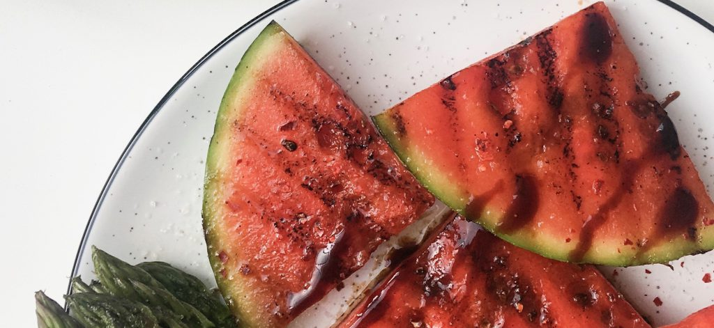 Obst grillen, Melone