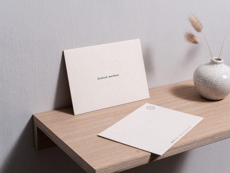 """Postkarte """"Einfach machen"""""""