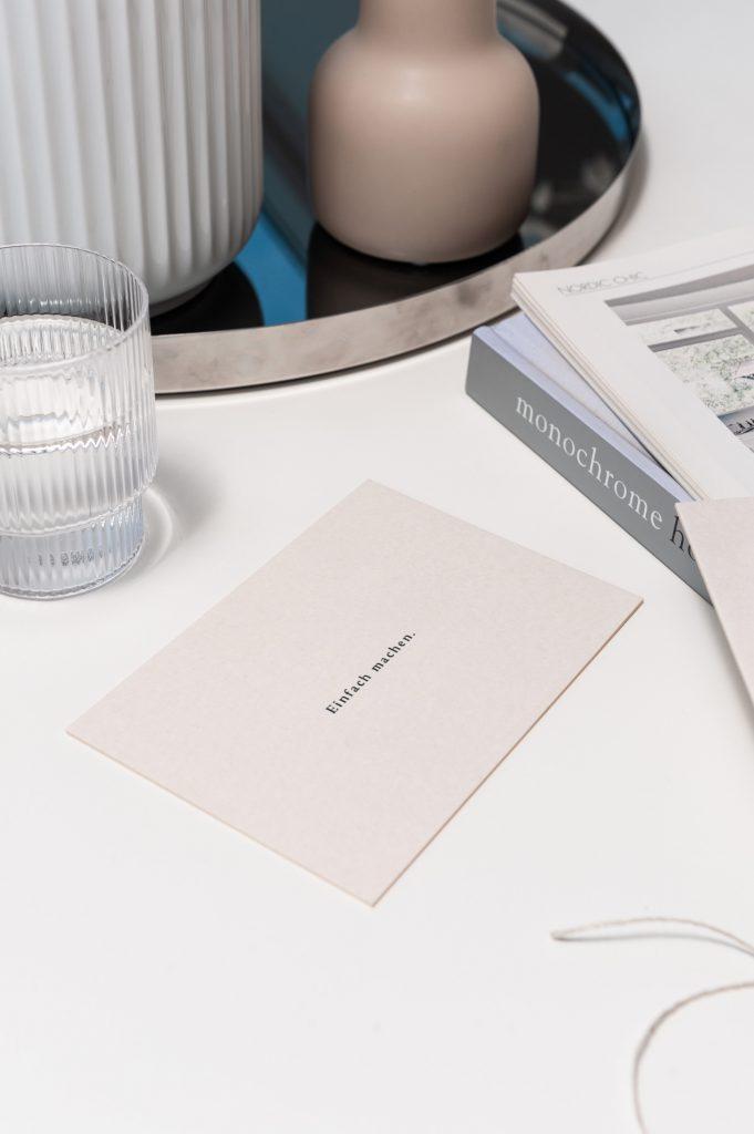 Wohnglück Design Produkte: Postkarte Einfach Machen.