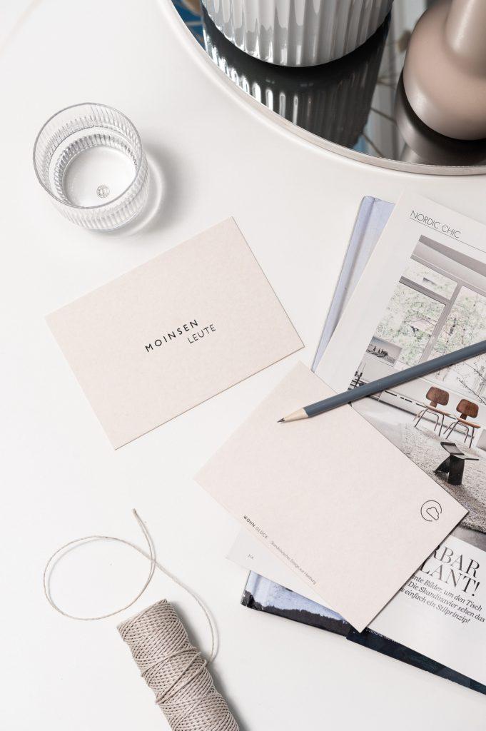 Wohnglück Design Produkte: Postkarte Moinsen Leute.